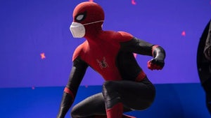 Tom Holland Promotes Wearing Masks with New Spider-Man Pic
