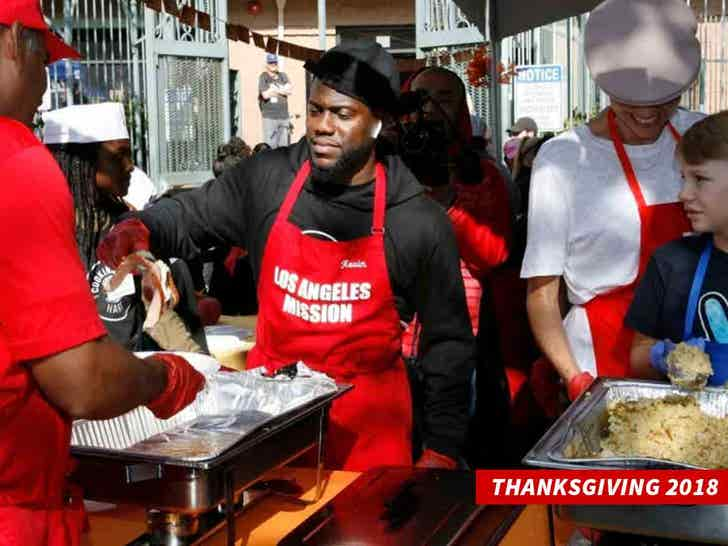 Kevin Hart Volunteering at The L.A. Mission