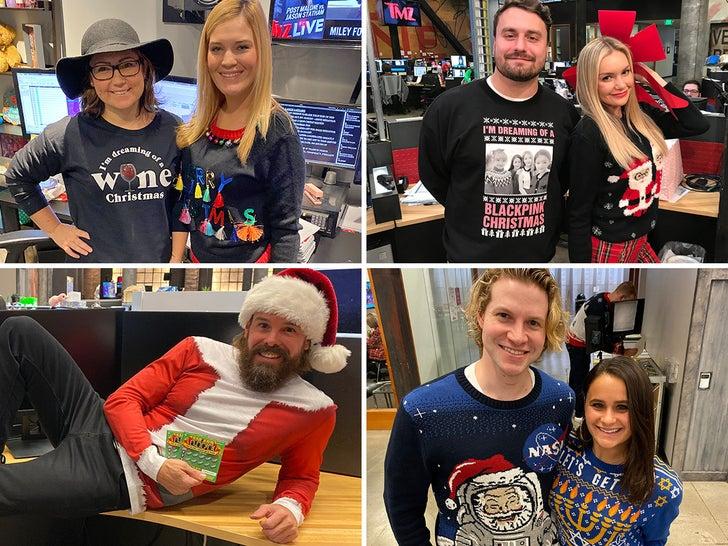 TMZ Staff Holiday Sweaters