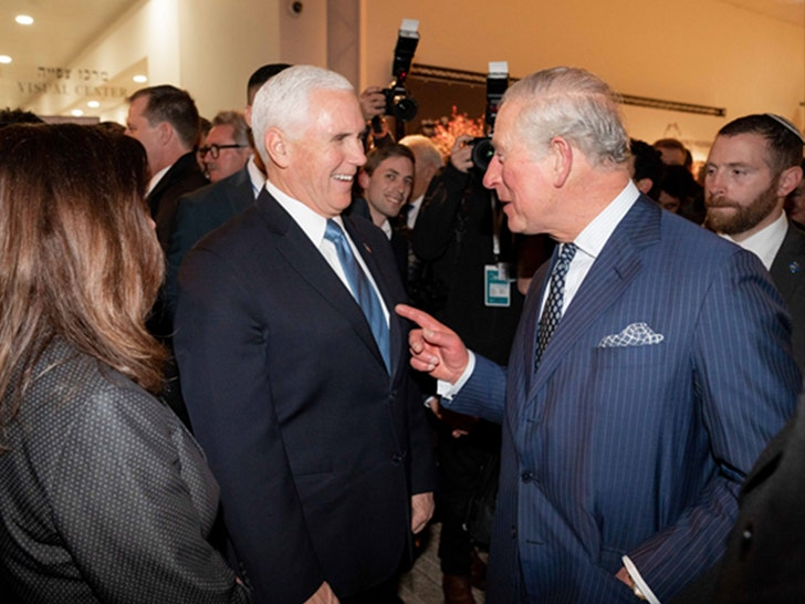 Prince Charles Appears to Snub Mike Pence Handshake