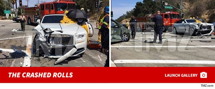 Kris Jenner -- Car Accident Scene