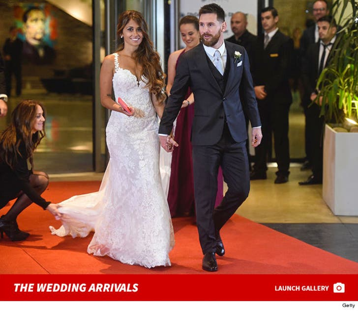 Lionel Messi's Wedding Arrivals