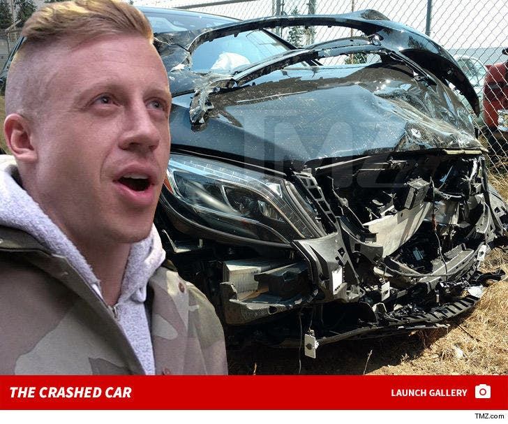Macklemore's Crashed Car