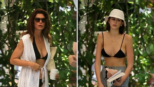 Cindy Crawford & Daughter Kaia Gerber Wear Matching Bikinis in Miami