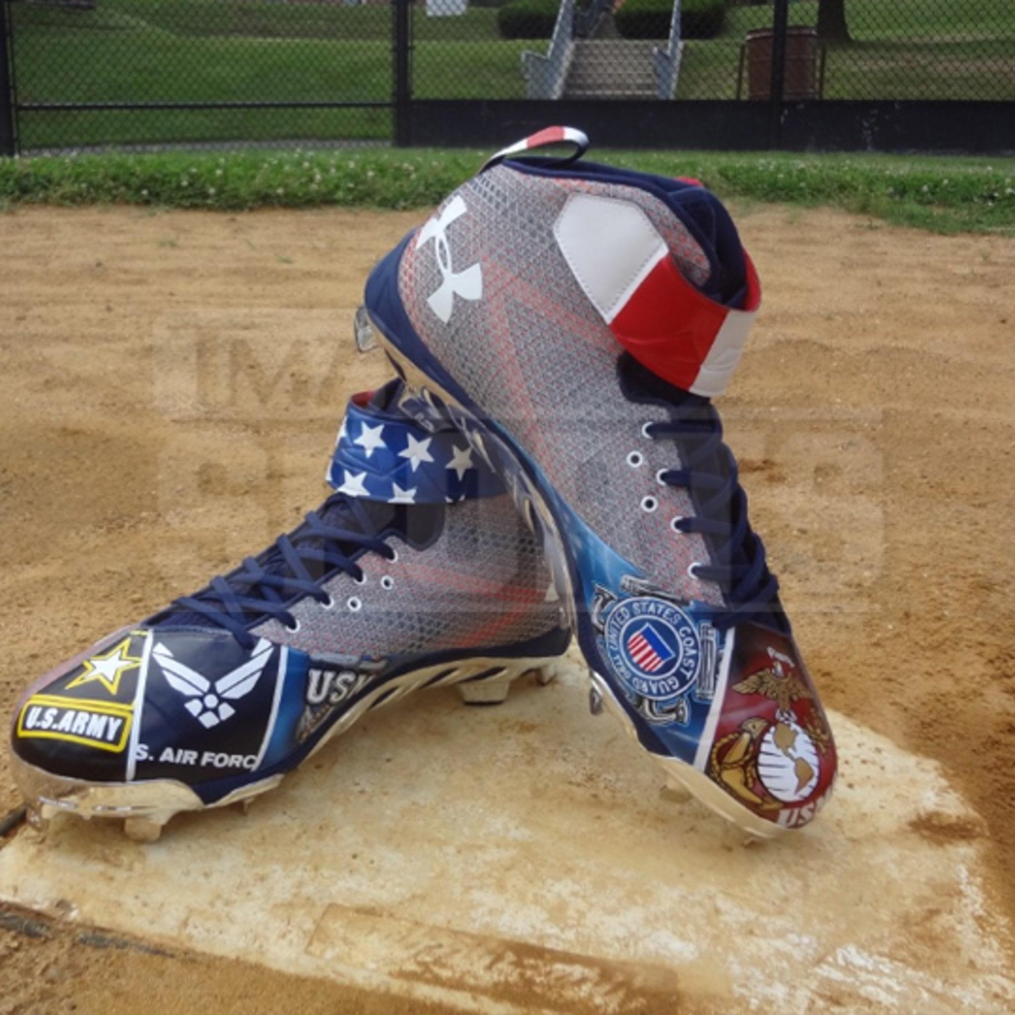 bryce harper american flag baseball cleats