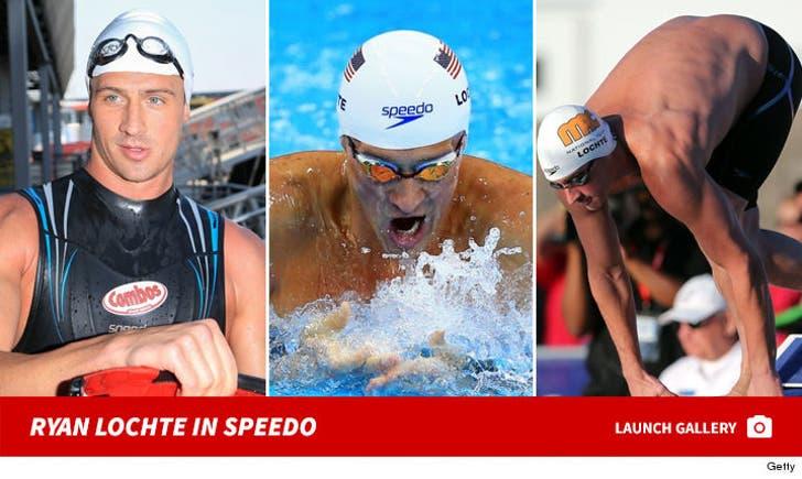 Ryan Lochte Sportin' Speedo Brand
