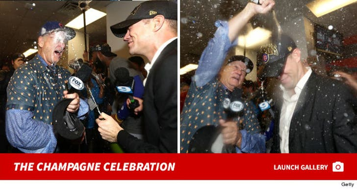 Bill Murray World Series Champagne Celebration