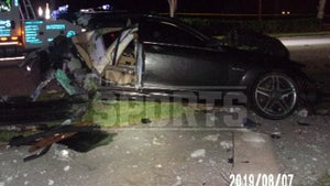Ex-NFL Star Deltha O'Neal DUI Case Crash Pics Show Insanely Mangled Mercedes