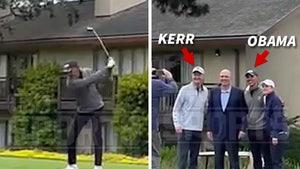 Barack Obama Plays Golf with Steve Kerr at Pebble Beach