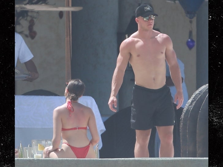 Christian McCaffrey and Olivia Culpo Holding Hands In Mexico