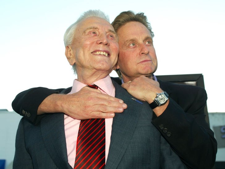 Kirk and Michael Douglas -- Father/Son Photos