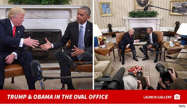 Barack Obama meets Donald Trump