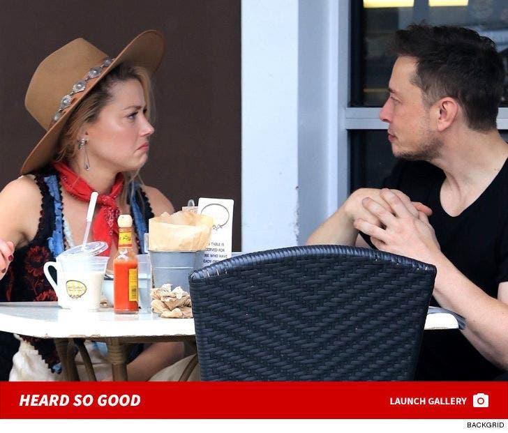 Elon Musk and Amber Heard Reunite Over Breakfast