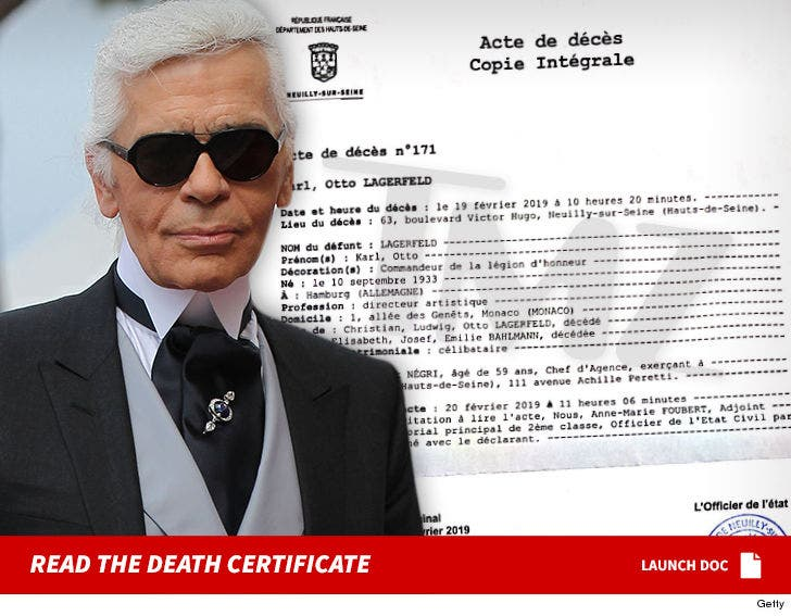 Fashion Designer Karl Lagerfeld S Death Certificate Cements French Legacy