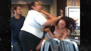McDonald's Staffer Pummels Customer in Crazy Fight