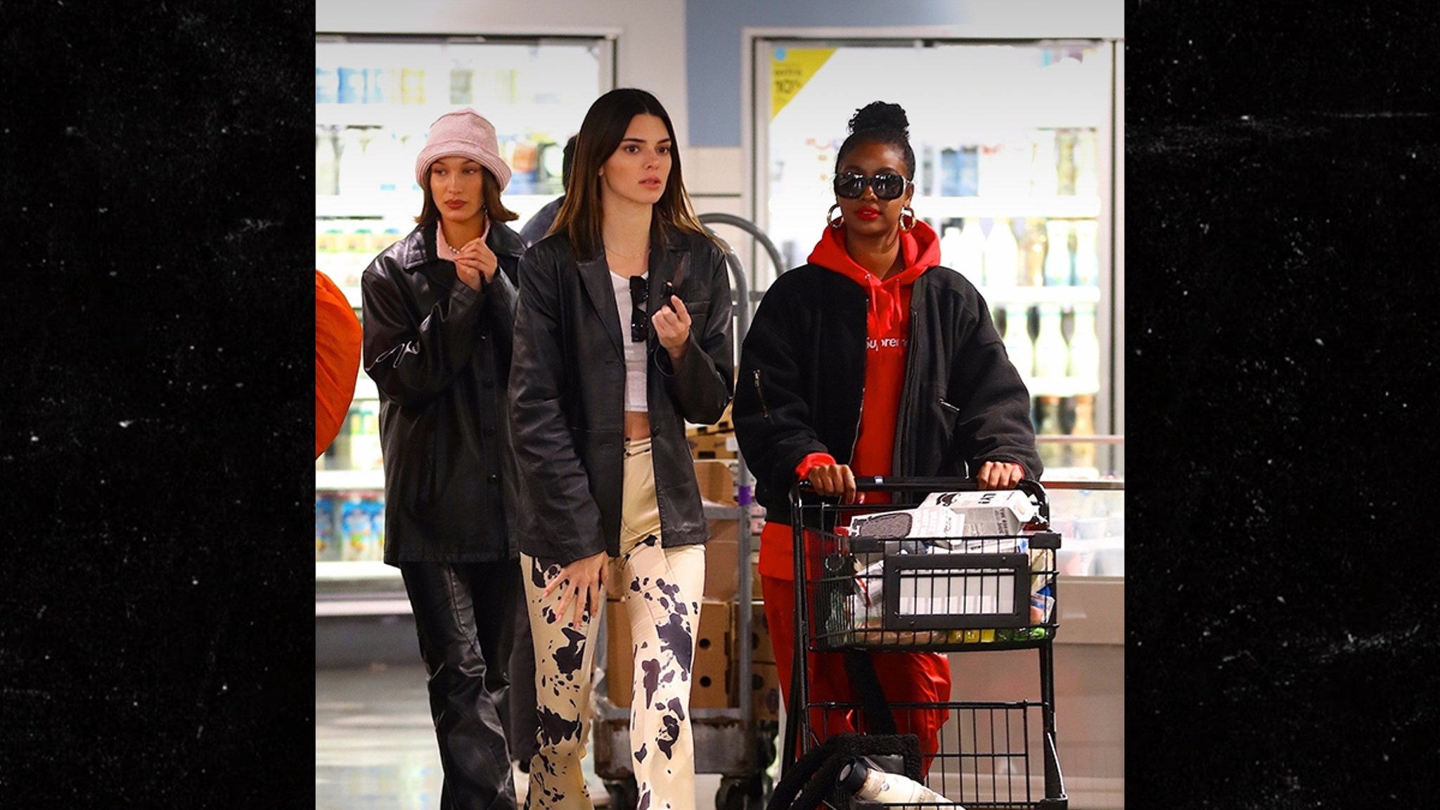 Kendall Jenner, Bella Hadid and Justine Skye Hit Up Whole Foods
