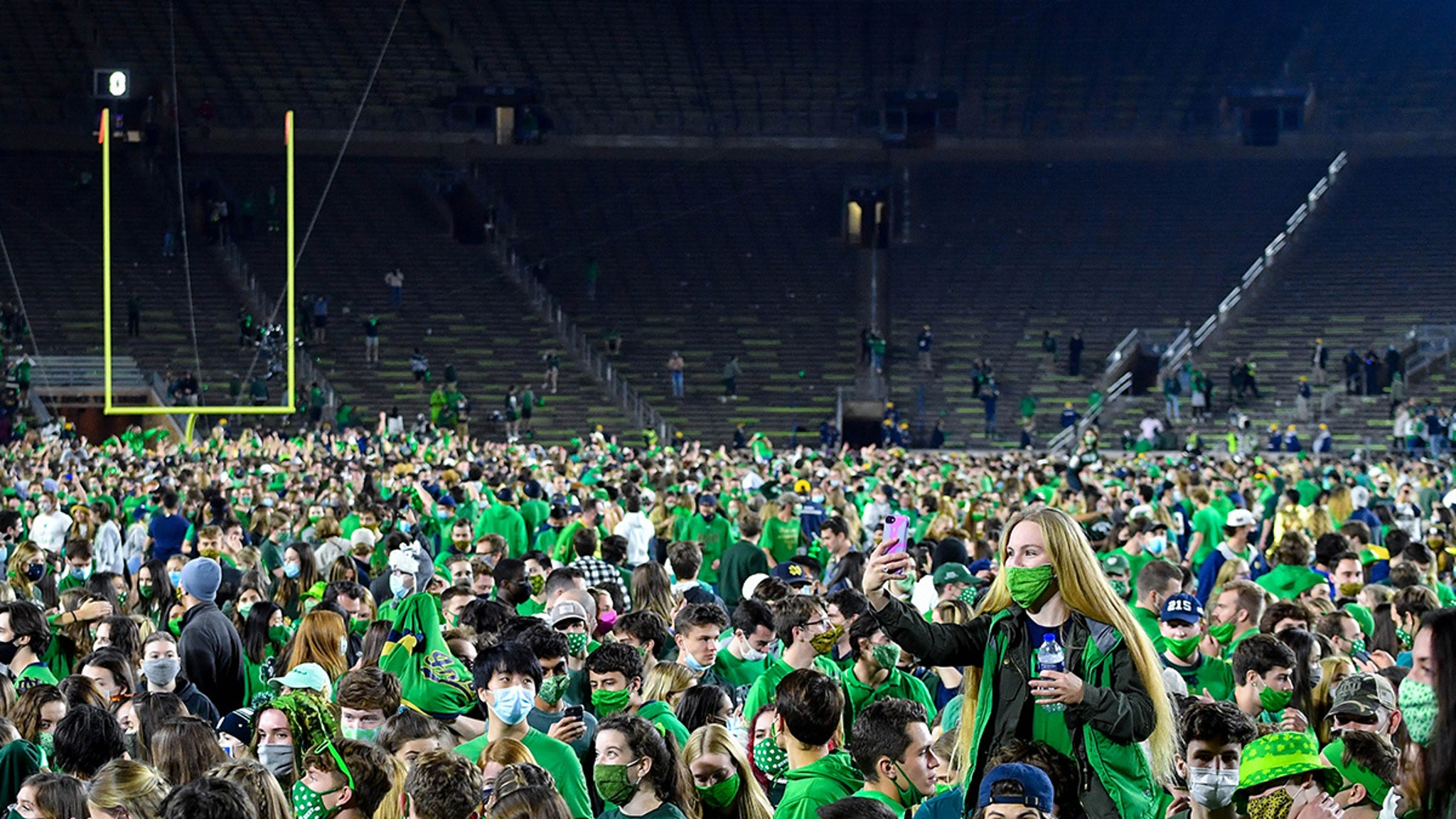 Notre Dame Livid At Students for Storming Field ... Threatens Punishment