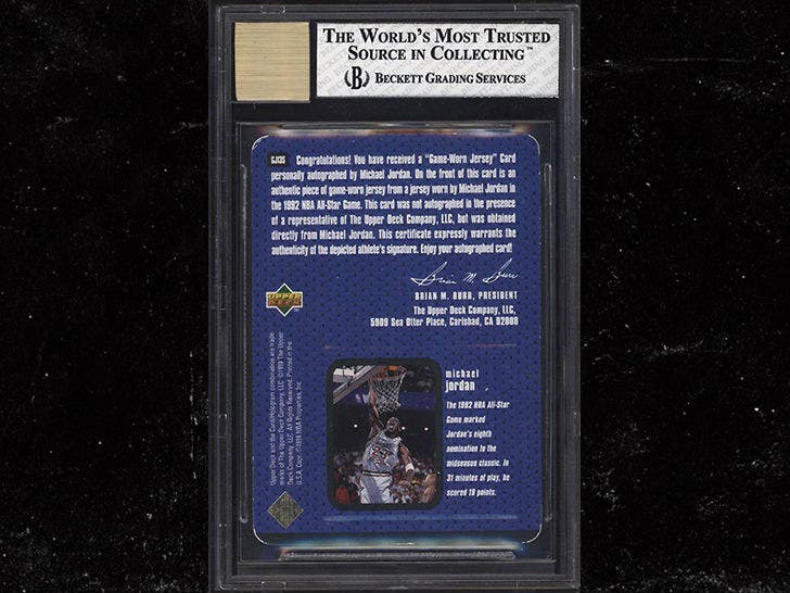 cheap for discount ad625 264a1 Rare Michael Jordan Autographed Jersey Card Sells for Almost ...