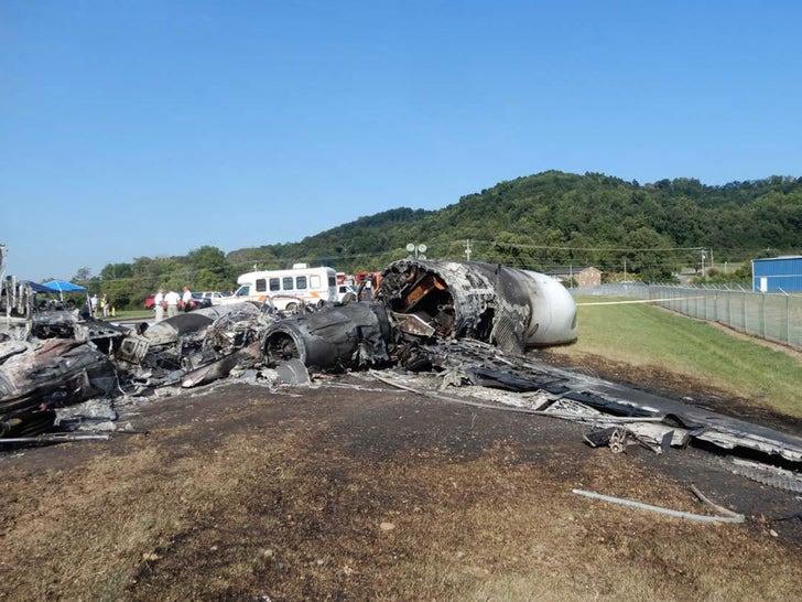 Dale Earnhardt Jr.'s Charred Plane Crash