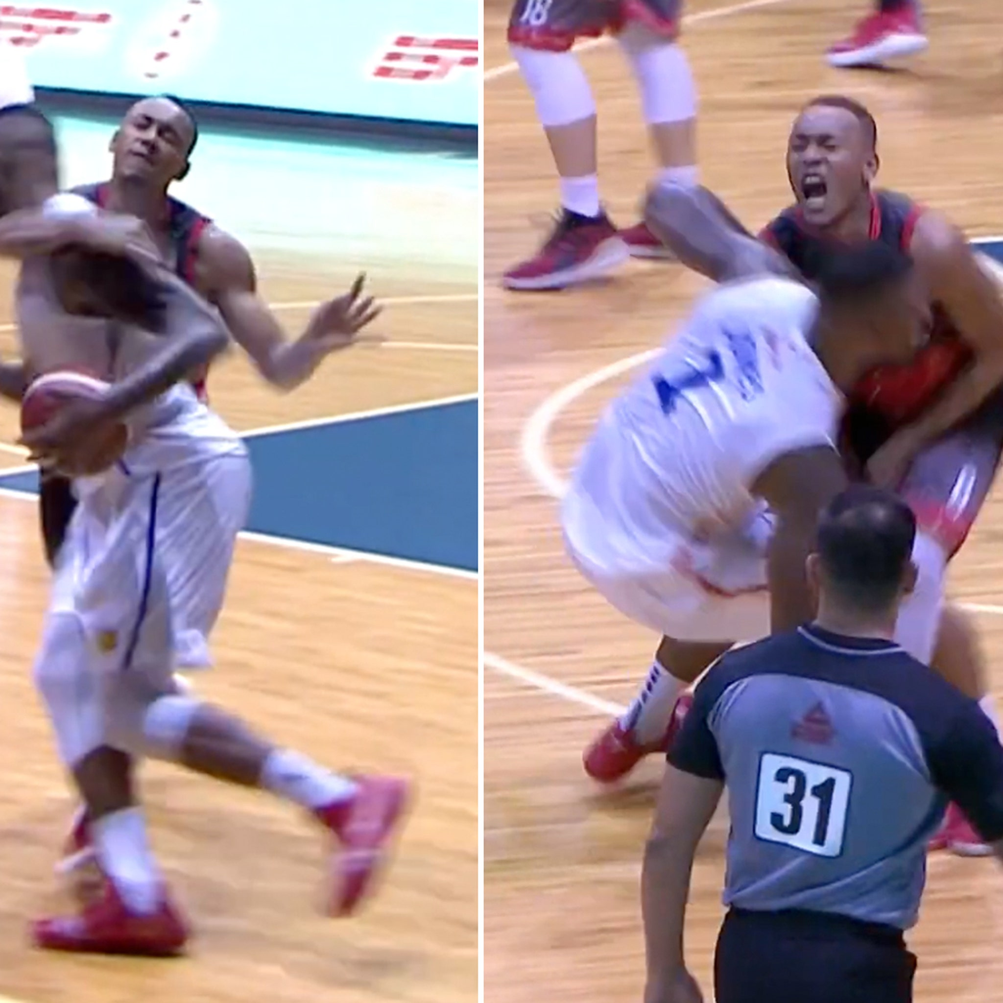 Ex-NBA Player Terrence Jones in Insane Hoops Fight, Nut Shots and Dancing