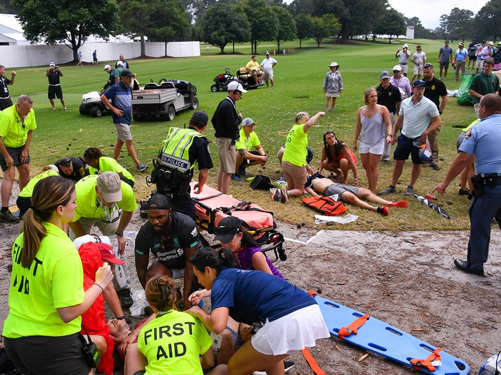 Tour Championship: Fans injured by lightning strike at PGA Tour finale