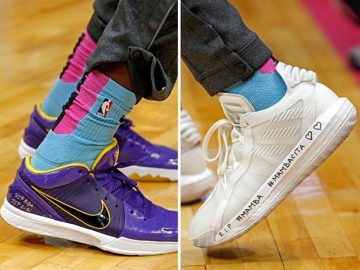 NBA Athletes Honoring Kobe On Their Kicks