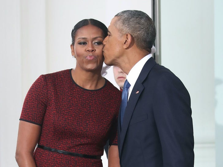 Barack and Michelle Obama Together In The White House
