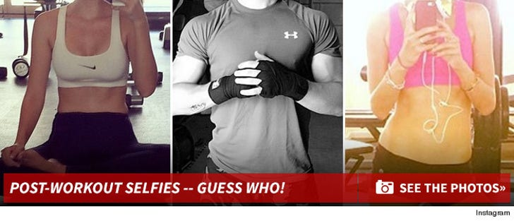 Post Workout #Selfies -- Guess The Sweaty Stars!