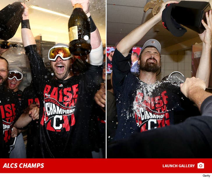 Cleveland Indians -- The ALCS Champs' Locker Room Party