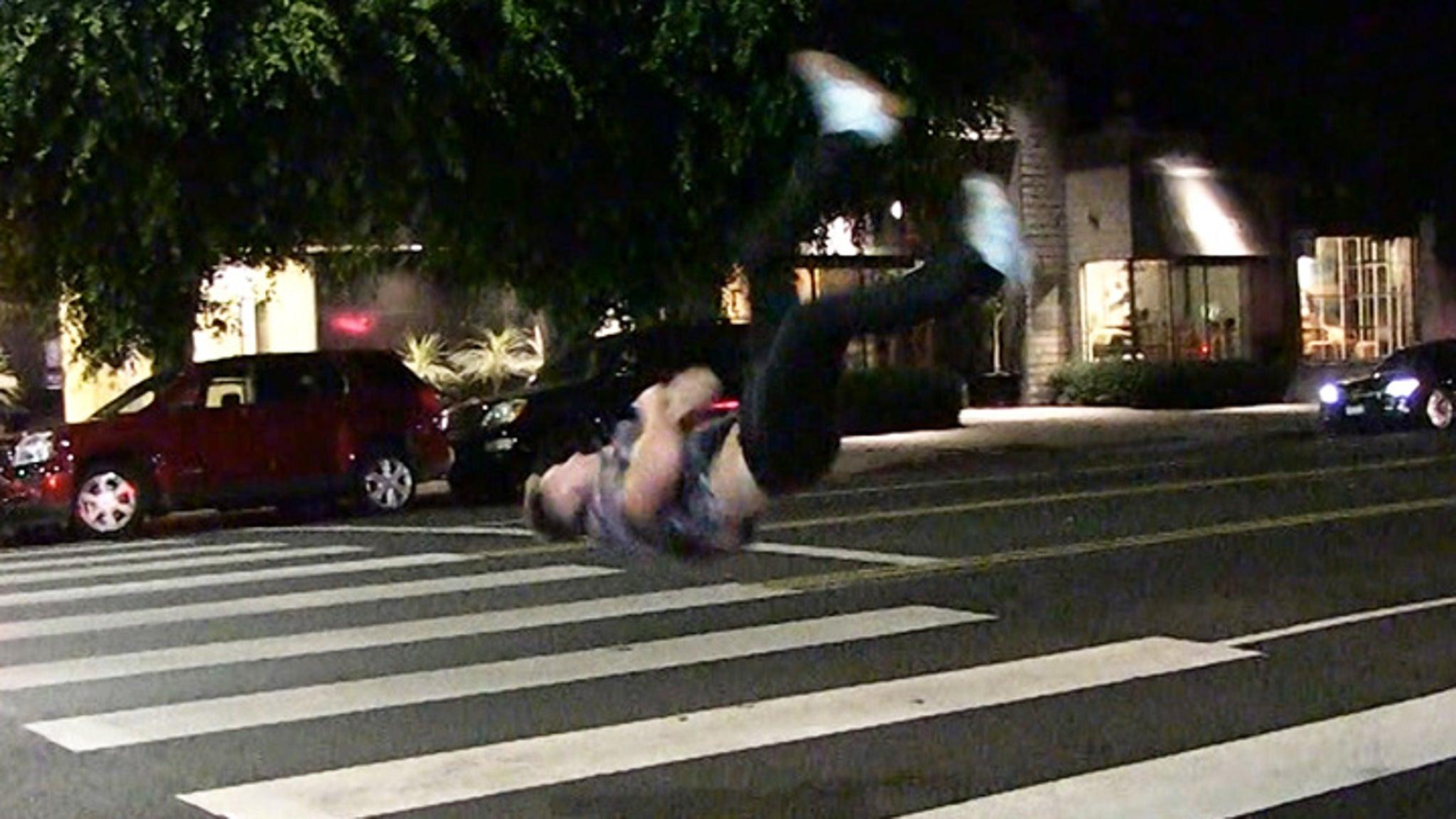 Pro Tricker Bailey Payne Flips Out In Front Of La Hot Spot-1234