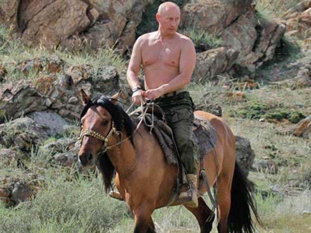 Putin Shirtless In Siberia