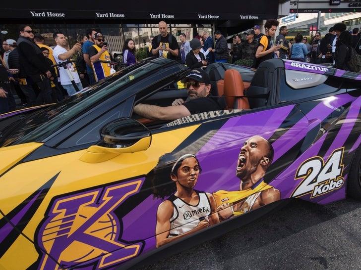 Fans Gather At Staples Center For Kobe & Gianna Bryant Celebration Of Life