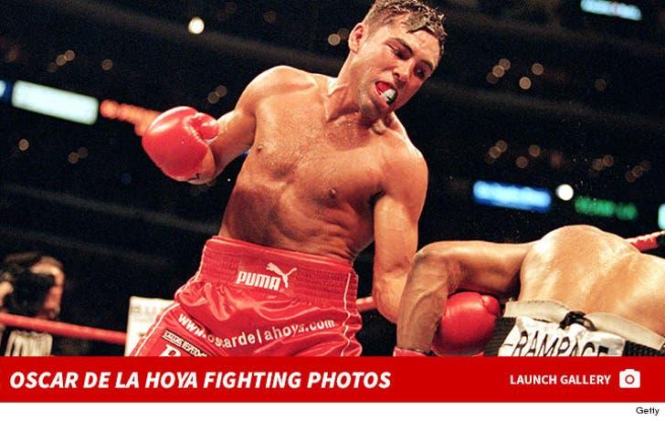 Oscar De La Hoya -- Fighting Photos