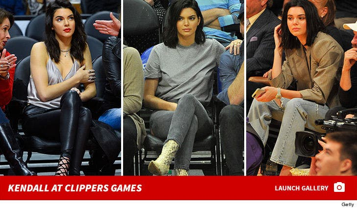 Kendall Jenner at Clippers Games