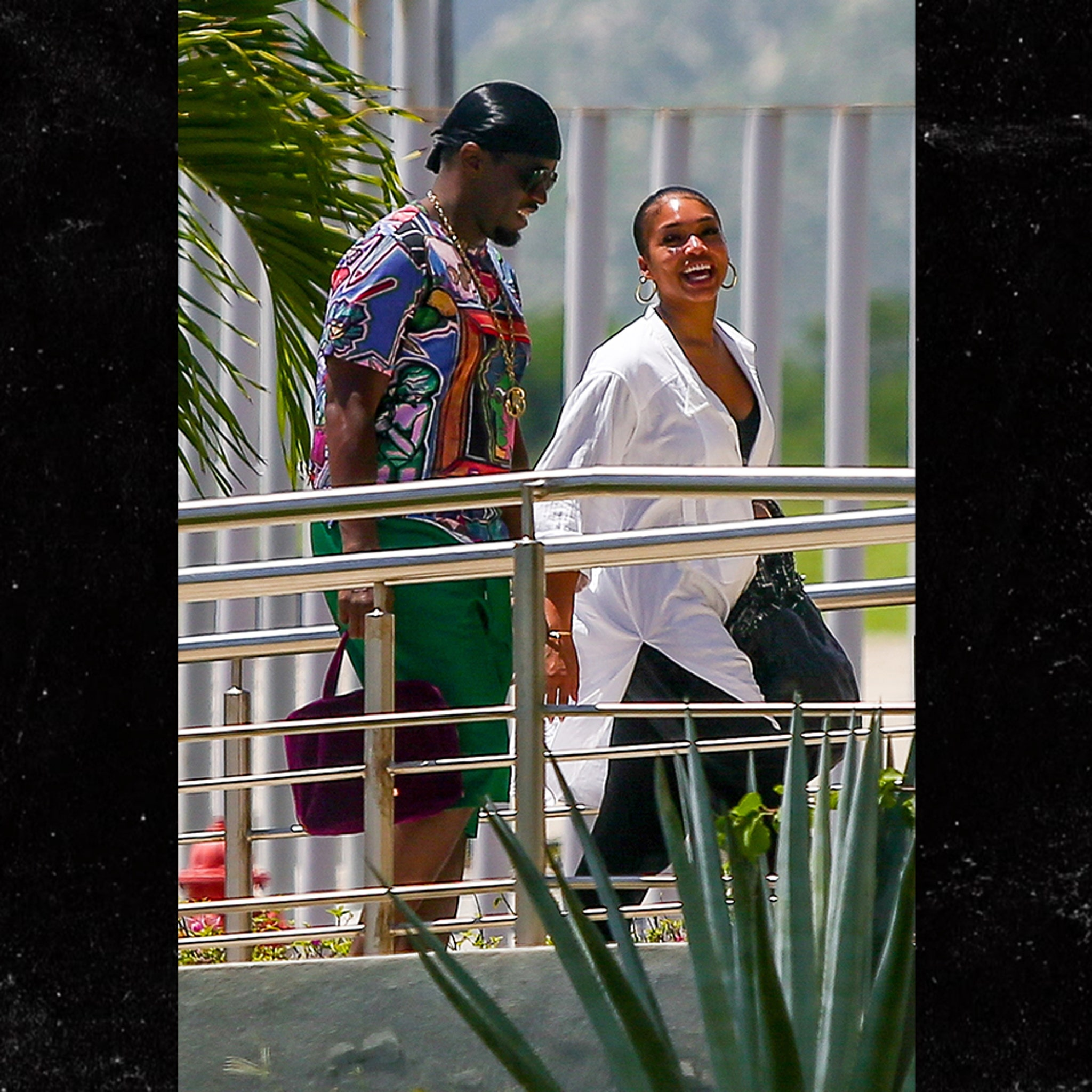Diddy & Lori Harvey Land in Cabo and Set Off Pregnancy Rumors