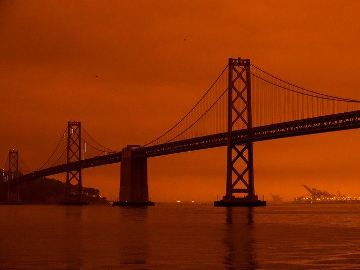 San Francisco Sky Orange From Wildfires
