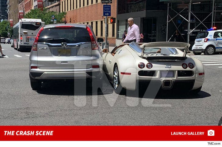 Tracy Morgan's Brand New Bugatti Sideswiped in NYC