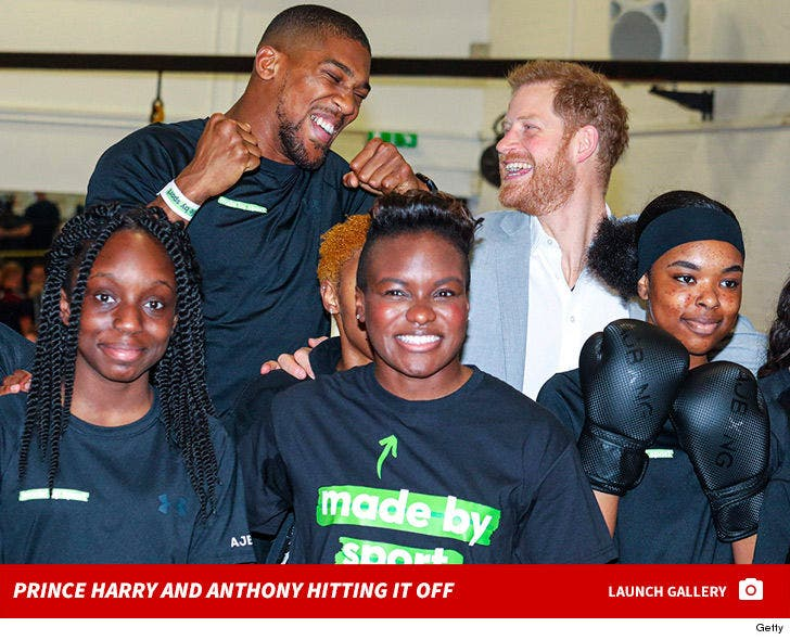 Prince Harry and Anthony Joshua Attend Launch of Made by Sport