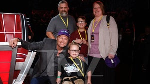 Blake Shelton Meets 7-Year-Old Wish Kid At 'The Voice' Semifinals
