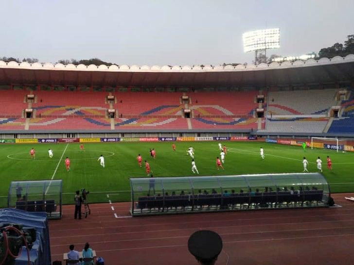 North vs South Korea Soccer Match at Kim Il-Sung Stadium