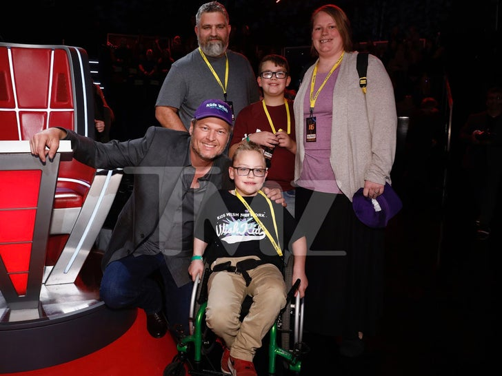 Blake Shelton Meets Wish Kid At 'The Voice'