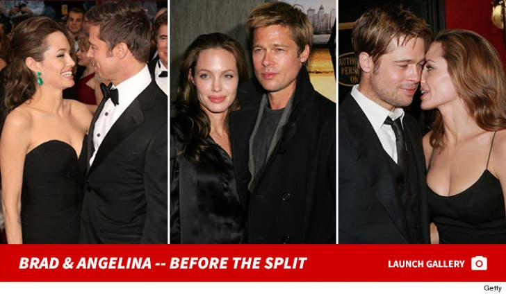 Angelina Jolie and Brad Pitt -- Before the Split