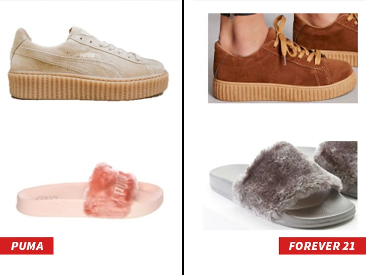 low priced 31e98 19f92 Rihanna's Shoes Are Getting Ripped Off, Puma Sues Forever 21 ...