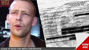 'Sons of Anarchy' Star Johnny Lewis -- Birth Certificate Reveals ... HE'S THE DADDY