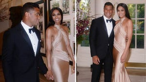 Russell Wilson -- Brings Ciara to White House Dinner ... You're Welcome, Barack