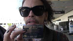 Steven Tyler Says He's Now An Ordained Minister And He's Not Kidding