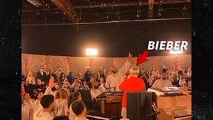 Justin Bieber Crashes Kanye West's Sunday Service