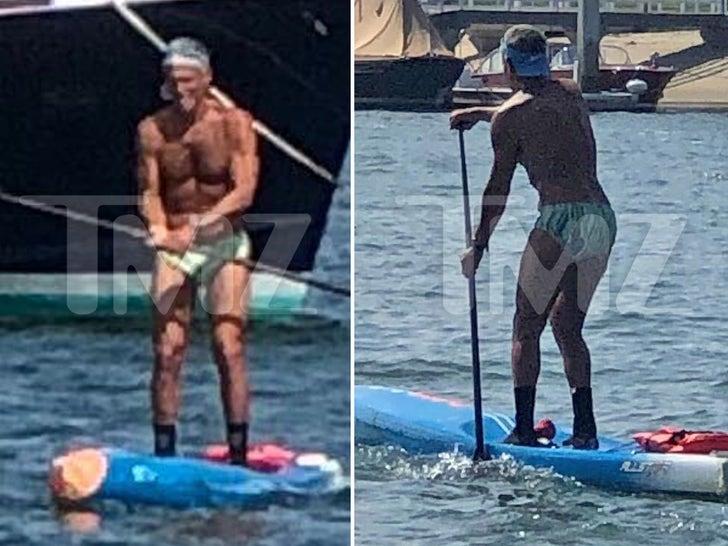 Rick Singer Back to Speedo Paddleboarding