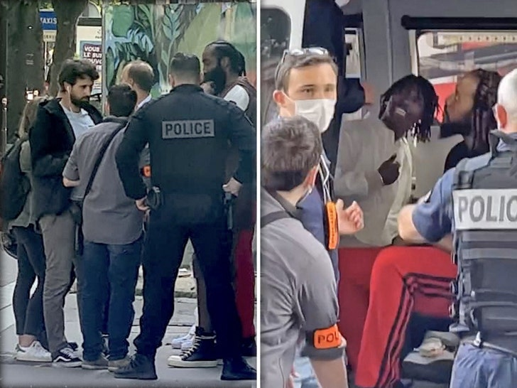 Lil Baby and James Harden Stopped by Cops in Paris