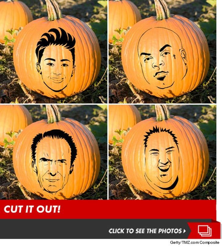 TMZ's Celebrity Pumpkin Stencils -- Cut It Out!